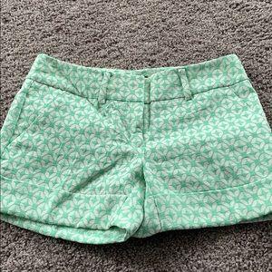 Mint Green Modern Shorts
